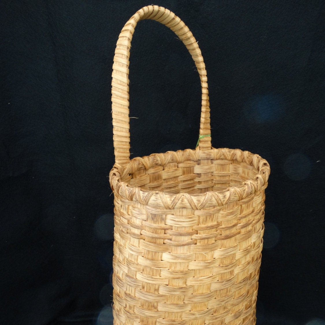 How To Hand Weave A Basket : Hand woven basket large wall hanging traditional