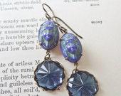 Blue Nenet Earrings -  Vintage Glass