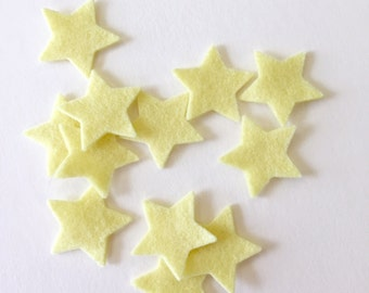 Felt Stars, One Dozen, One Inch, 100% Wool, Choose Color, Pre-Cut Shapes, Die Cuts, Applique, Paper Crafts, Party Supply,  Confetti