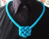 Knitted statement necklace.