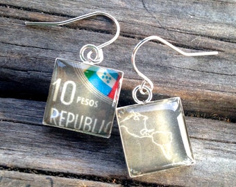 Simple Square Postage Stamp Earrings