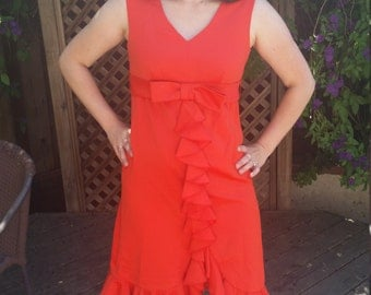 Red Ruffle Party Dress