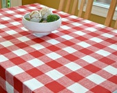 Red Buffalo Check Tablecloth Premier Prints Anderson Lipstick Red White Large Checker Table Cloth, Picnic, Events, Wedding, Banquet, Party