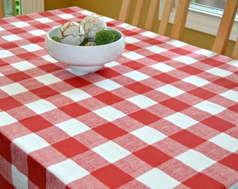 Red Buffalo Check Tablecloth Premier Prints Anderson Lipstick Red White  Large Checker Table Cloth, Picnic