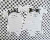 Kit Baby Shower Game Onesie with Black Bowties -  Advice For the New Mom  Party Game