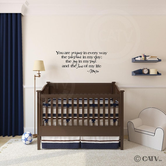 You are precious in every way the sunshine in my day vinyl lettering wall decal sticker