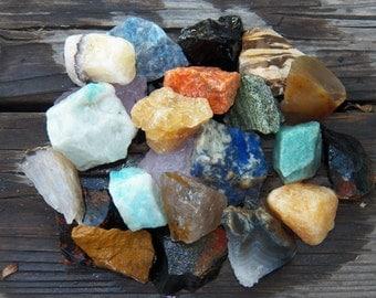 BRAZIL MIX Rough Tumbling Rock Healing Crystal, Medicine Bag, Jewelry, Art, Wire Wrap, Rock Collecting, Metaphysical, Bulk Wholesale Lot