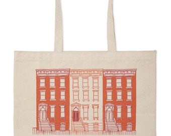 Red Brownstone Market Tote