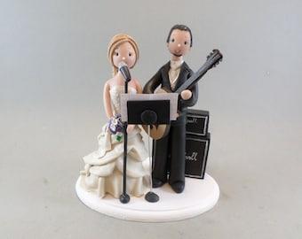 Bride & Groom Customized Music Theme Wedding Cake Topper