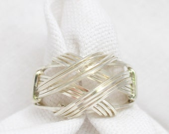 The Crossover Wire Wrapped Ring