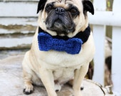 Custom Bow Tie Dog Collar - Bow Tie Neck Warmer - Dog Neck Warmer - Dog Scarf - All You Need is Pug®
