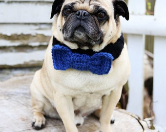 Custom Bow Tie Dog Collar - Bow Tie Neck Warmer - Dog Neck Warmer - Dog Scarf - All You Need is Pug®