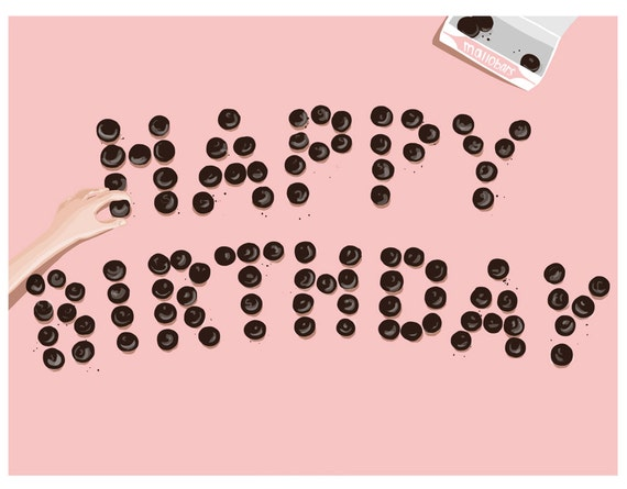 Happy Birthday Mallomars - Blank Card - 1pc