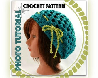 PATTERN - The GenX Slouchy Beanie - Crochet PhotoTutorial - Permission to Sell