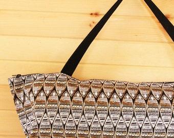 Large Yoga Mat Bag with Zipper, Tribal Yoga Bag, Yoga Mat Carrier African Print