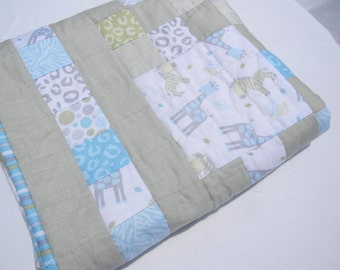Baby Quilt- Lap Quilt- Baby Blanket- Lap Throw- Quilted Blanket