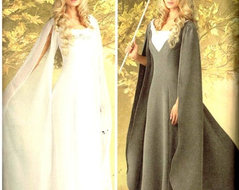 Fantasy Medieval Renaissance Dress Princess Wedding Gown Costume Simplicity 1551 Sewing Pattern Size 8 10 12 14 16 18 20 22 24