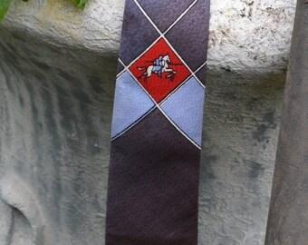 Vintage Boys Tie, Boy's Tie, Boys Necktie,  1950s Tie, Knight Armour, Grey Boys Tie, Gray Boys Tie, 50s Tie, 50s Necktie, Children's Tie