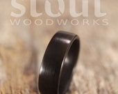 Ziricote Bentwood Ring - Handcrafted Wooden Ring