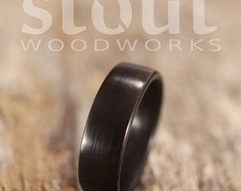 Bentwood Ring - Ziricote Wooden Ring - Handcrafted Wood Wedding Ring - Custom Made