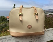 The Vintage Beige Dooney & Burke Leather Shoulder Bag