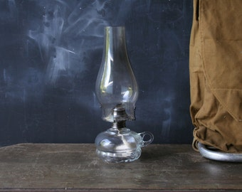 Vintage Hurricane Lamp Glass Lantern From Nowvintage on Etsy