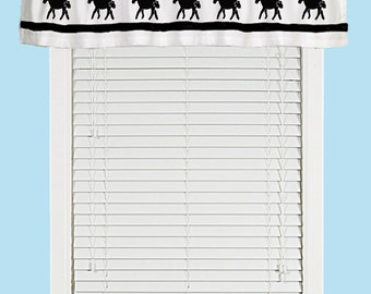 Miniature Horse Window Valance Curtain  - Your Choice of Colors
