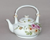 Pink and White Rose Teapot