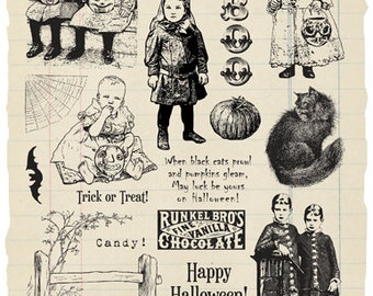 Jack o'Lantern rubber stamp collection