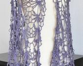 Summer Breeze - Purple - Crochet Soft Lace Shawl/Vest
