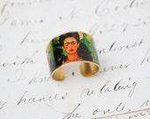 Frida Kahlo Ring Brass Adjustable Art Ring Bohemian Mexican Artist