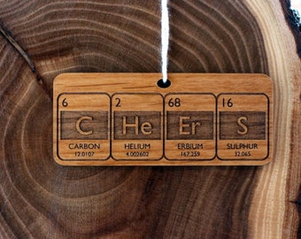 Periodic Table Holiday Cheers Ornament