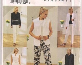 Butterick 3717 Jacket and Vest, Skirt Pattern, Pants Pattern, Capri Pants Misses Plus Size 18 20 22 Uncut