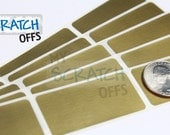 Scratch Off 50 Gold Rectangle 1 x 2 inch scratch-off labels stickers for games and promotions