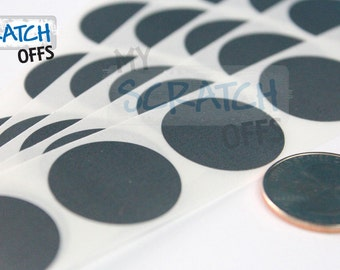 Silver Scratch Off 1000 Silver 1 inch Round scratch off labels stickers for games and promotions