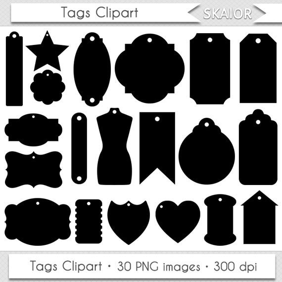 Clipart Labels Clip Art Scrapbooking Gift Tag Printable Shipping Tags ...