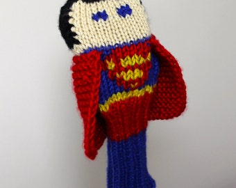 Knit PATTERN Superman Golf Club Cover PDF