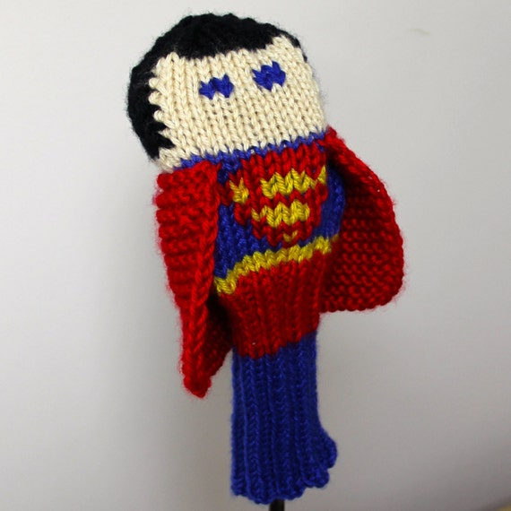 Knitting Patterns For Golf Club Headcovers : Knit PATTERN Superman Golf Club Cover PDF