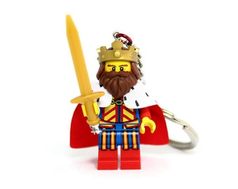 Classic King Keychain made from Series 13 LEGO®  Minifigure