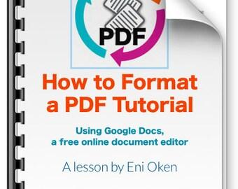 How to Format a PDF Tutorial using Google Docs: an Ebook