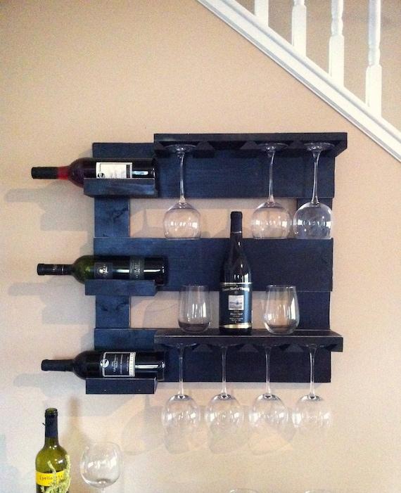 black wine rack wine storage wine glass holder bar shelf. Black Bedroom Furniture Sets. Home Design Ideas