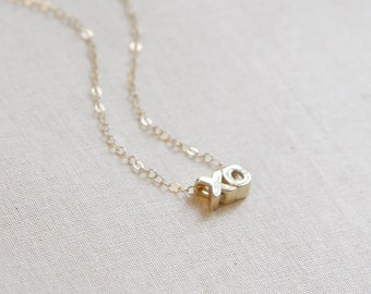 XO Necklace | Gold or Silver Love Necklace | Love Necklace