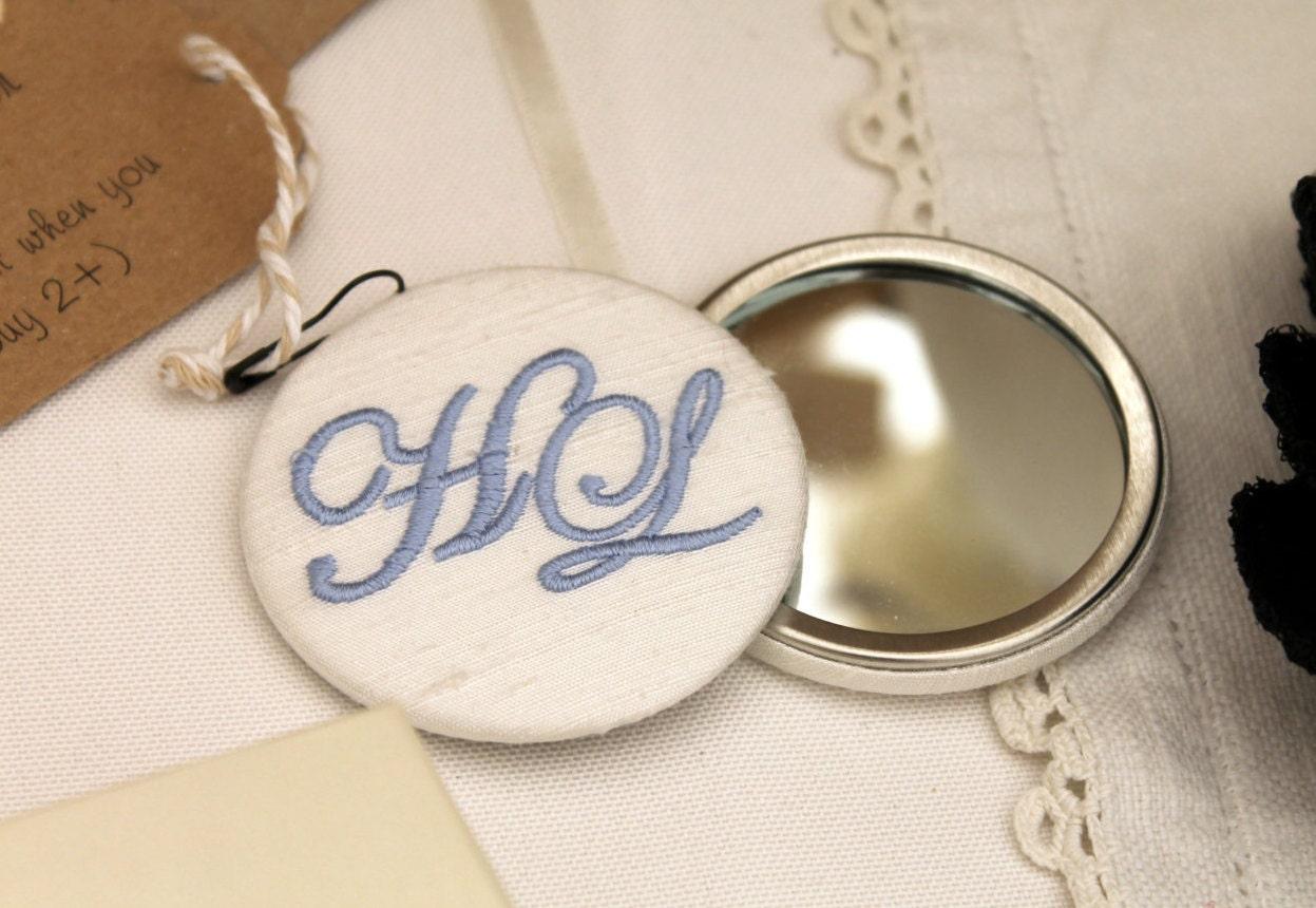 personalised monogram compact mirror. Black Bedroom Furniture Sets. Home Design Ideas