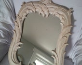 M I R R O R Vintage Art Nouveau Mirror Poppy Cottage Painted Furniture
