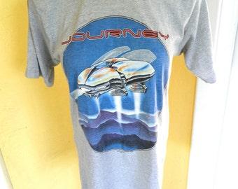 Journey 1982 Escape concert tour soft vintage tee shirt size small/med