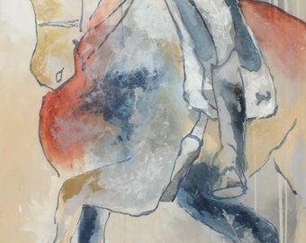 Horse Painting VERY Large 30 x 60 Original, Canvas, fine art, Painting, Abstract