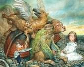 The Mock Turtle (print) Alice in Wonderland