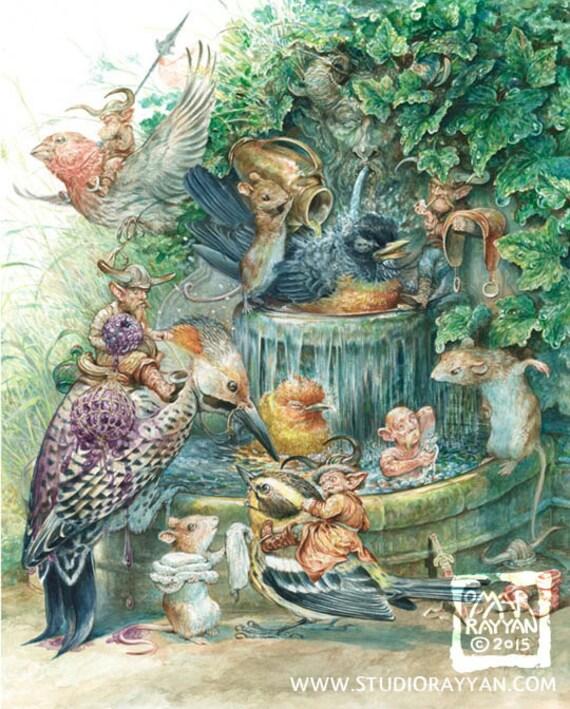 The Birdbath (print)