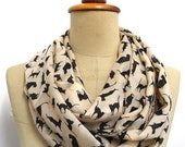 Valentines Gift, SALE Cat Scarf scarves Cat Infinity Scarf Chiffon scarf  black cat print shawl gift Cat print shawl gift wrap super soft