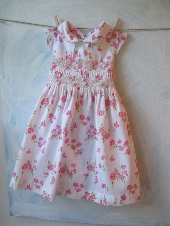 Laura Ashley Smocked Toddler Dress Dress 24 Months Girls